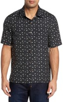 Nat Nast Men's Dice Print Classic Fit Camp Shirt