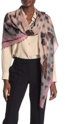 Valentino Cashmere Blend Printed Shawl