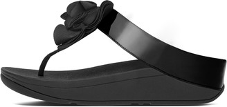 FitFlop Florrie Patent Toe-Post Sandals