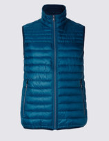 Marks And Spencer Dot Print Quilted Gilet With Stormweartm