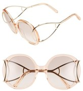 Chloé Women's 'Jackson' 56Mm Round Sunglasses - Antique Rose