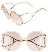 Chloé Women's 'Jackson' 56Mm Round Sunglasses - Crystal Turtledove