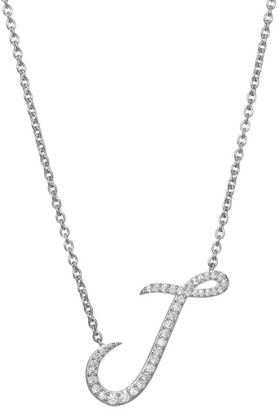 Adriana Orsini Sterling Silver & Cubic Zirconia Pave Initial Necklace