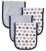 Gerber ; Boys' 4 pack Burp Cloth - Sports Navy One Size
