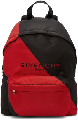 Givenchy Black and Red Urban Backpack