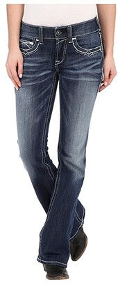 Ariat R.E.A.L.tm Boot Cut Entwined (Marine) Women's Jeans