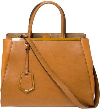 Fendi Tan Leather Medium 2Jours Tote