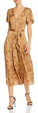 Paige Alayna Snakeskin Print Belted Dress
