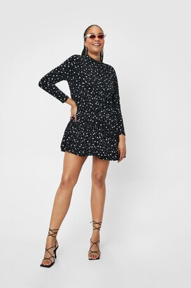 Nasty Gal Womens Tier and Now Spotty Mini Dress - Black