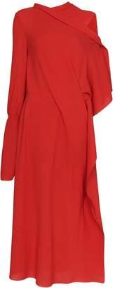 Roland Mouret Carmel asymmetric draped crepe dress