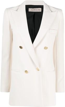 Blanca Vita Double-Breasted Blazer