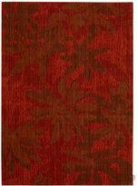 """Calvin Klein Home Area Rug, CK19 Urban URB05 Winter Flower Garnet 7'9"""" x 10'10"""