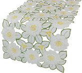 Xia Home Fashions 12 by 28-Inch Dainty Flowers Spring Table Runner, Mini