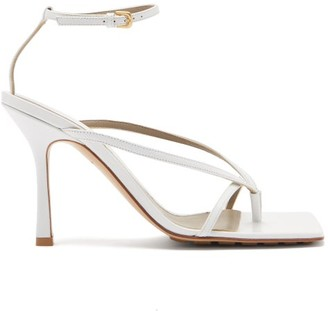 Bottega Veneta Square-toe Leather Sandals - White