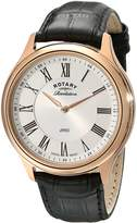 Rotary Men's gs02967/21/19 Rose Gold-Tone Stainless Steel Automatic Watch with Leather Band