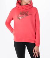 Nike Women's Sportswear Rally Funnel Neck Metallic Hoodie