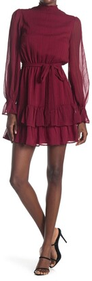 A.Calin Smocked Ruffle Mini Dress