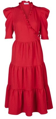Hofmann Copenhagen Ciara Dress in Fiery Red - xs | polyester