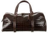 Bottega Veneta Crocodile Duffel Bag