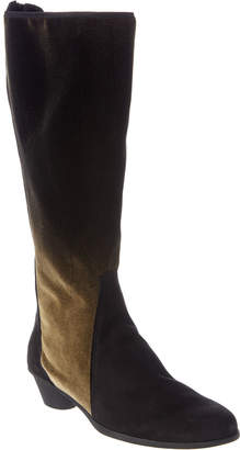 Arche Cynage Tall Suede & Velvet Boot