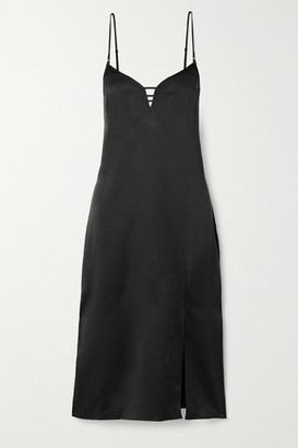 Kiki de Montparnasse Harness Washed-silk Dress - Black