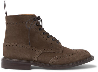 Tricker's Stow Suede Brogue Boots