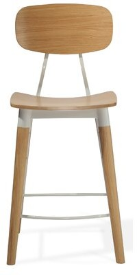 "Industrial Modern Esedra Bar & Counter Stool Seat Height: Bar Stool (29.5"" Seat Height), Color: Natural"
