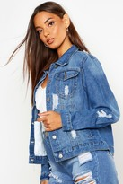 boohoo Alice Western Denim Jacket