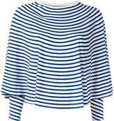 MM6 MAISON MARGIELA striped sweatshirt - women - Spandex/Elastane/Viscose - S