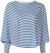 MM6 MAISON MARGIELA striped sweatshirt - women - Viscose/Spandex/Elastane - M