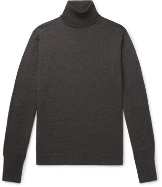 Officine Generale Nina Virgin Wool Rollneck Sweater - Men - Gray