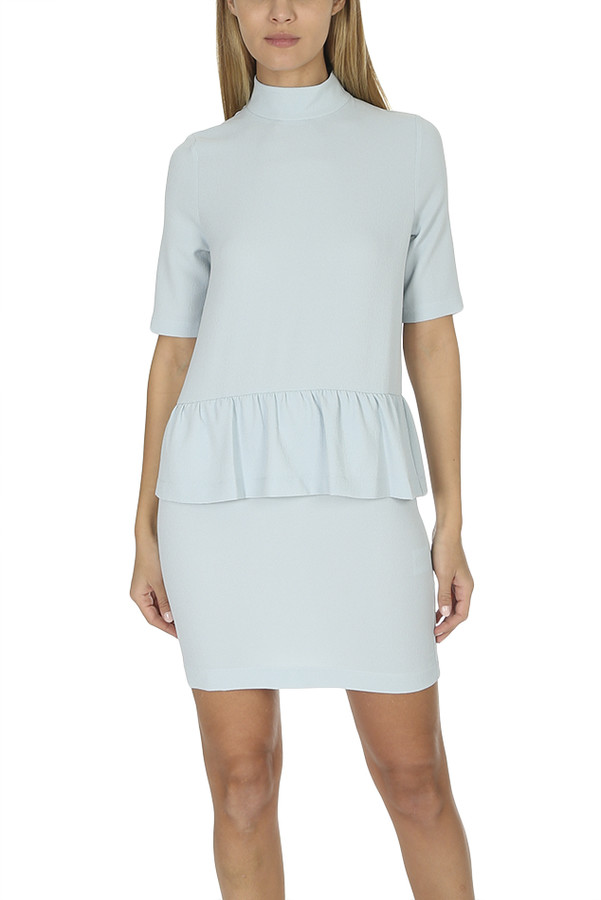 Ganni Sterling Blue Clark Dress