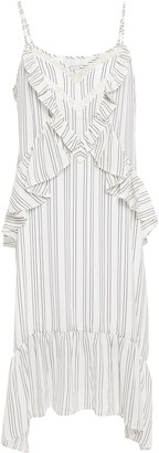 Rebecca Minkoff Taylor Ruffled Striped Crepe De Chine Dress