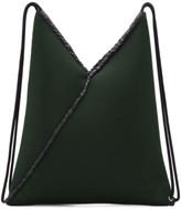 MM6 MAISON MARGIELA Green Mesh Drawstring Backpack