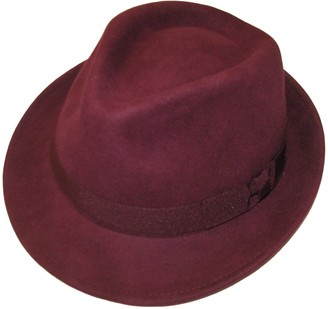 Major Wear Unisex Maroon 100% Wool Hand Made Felt Fedora Trilby Hat with Band - 4 Sizes (Large)
