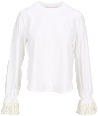 See by Chloe Lace Trim Long-Sleeve Top