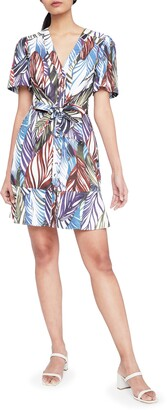 Parker Sheila Feather Print Cotton Shirtdress
