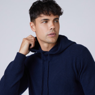 DSTLD Cashmere Hoodie Sweater in Navy