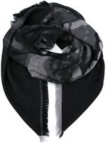 Givenchy rottweiler print scarf - men - Silk/Wool - One Size