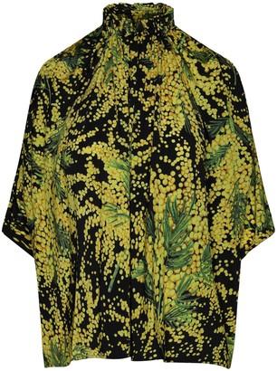 Balenciaga Plant Print Oversized Blouse