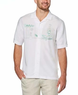 Cubavera Camp Collar Mojito Embroidered Shirt
