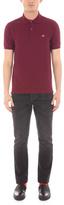 Paul Smith Men's Burgundy Cotton-Pique Flag-Motif Polo Shirt