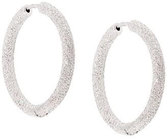 Carolina Bucci Florentine Finish small thick round hoop earrings