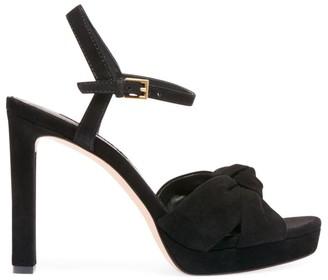 Alice + Olivia Bailee Knotted Suede Platform Sandals