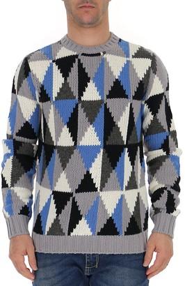 Prada Intarsia Knitted Jumper