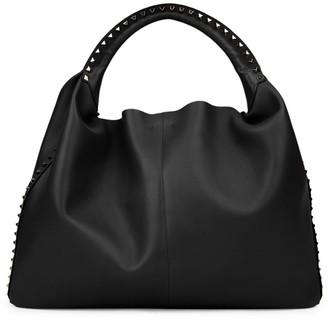 Valentino Extra-Large Rockstud Leather Hobo Bag
