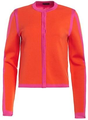 Escada Singh Silk & Wool-Blend Cardigan