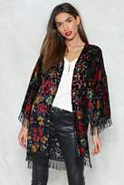 Nasty Gal Never Grow Up Velvet Kimono