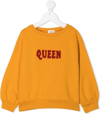 Longlivethequeen Embroidered-Logo Cotton Sweatshirt