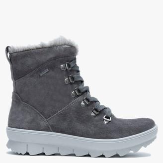 Legero Winter Grey Suede Fleece Lined Hiking Boots